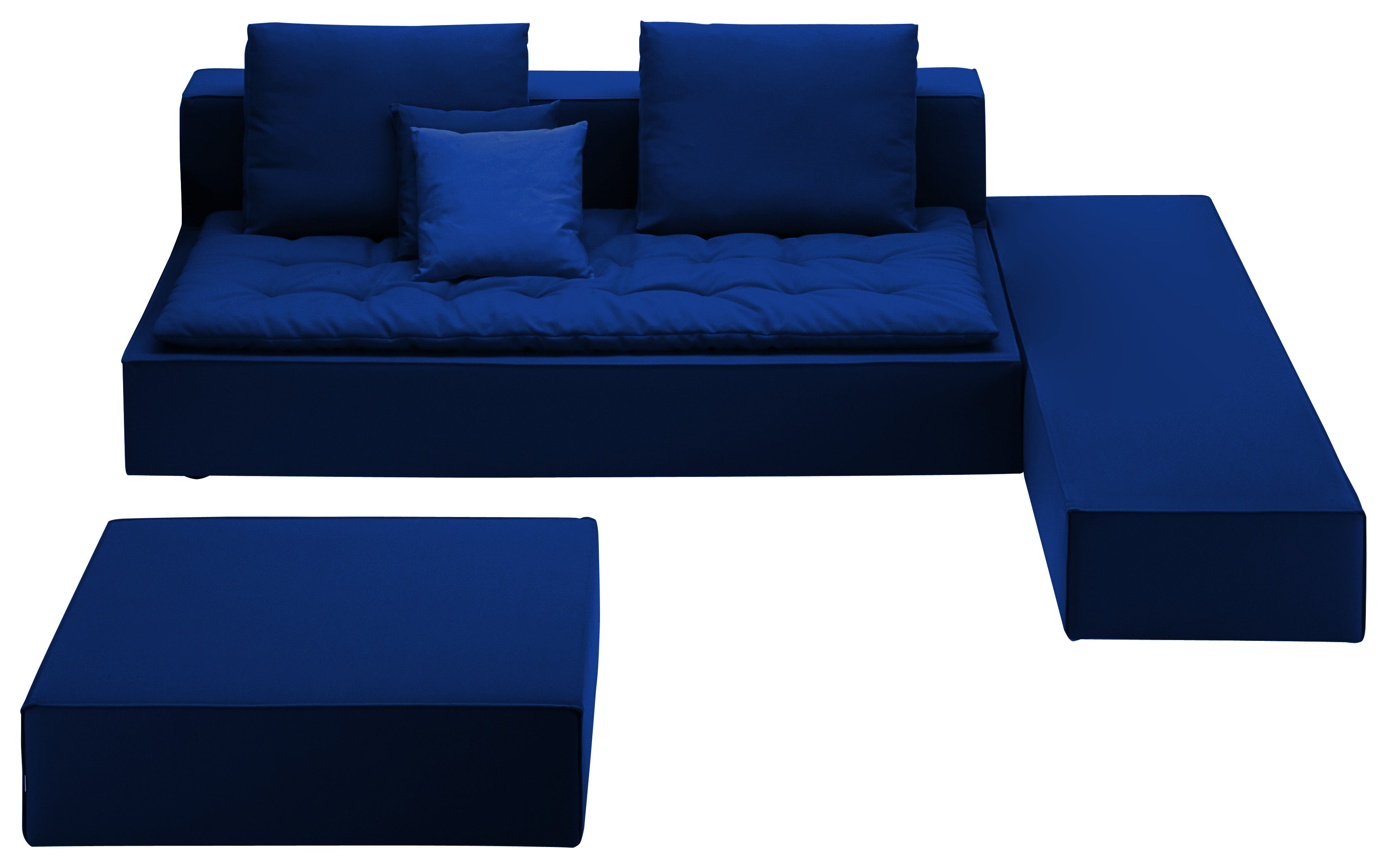 canap d 39 angle domino composition l 282 cm bleu fonc zanotta. Black Bedroom Furniture Sets. Home Design Ideas