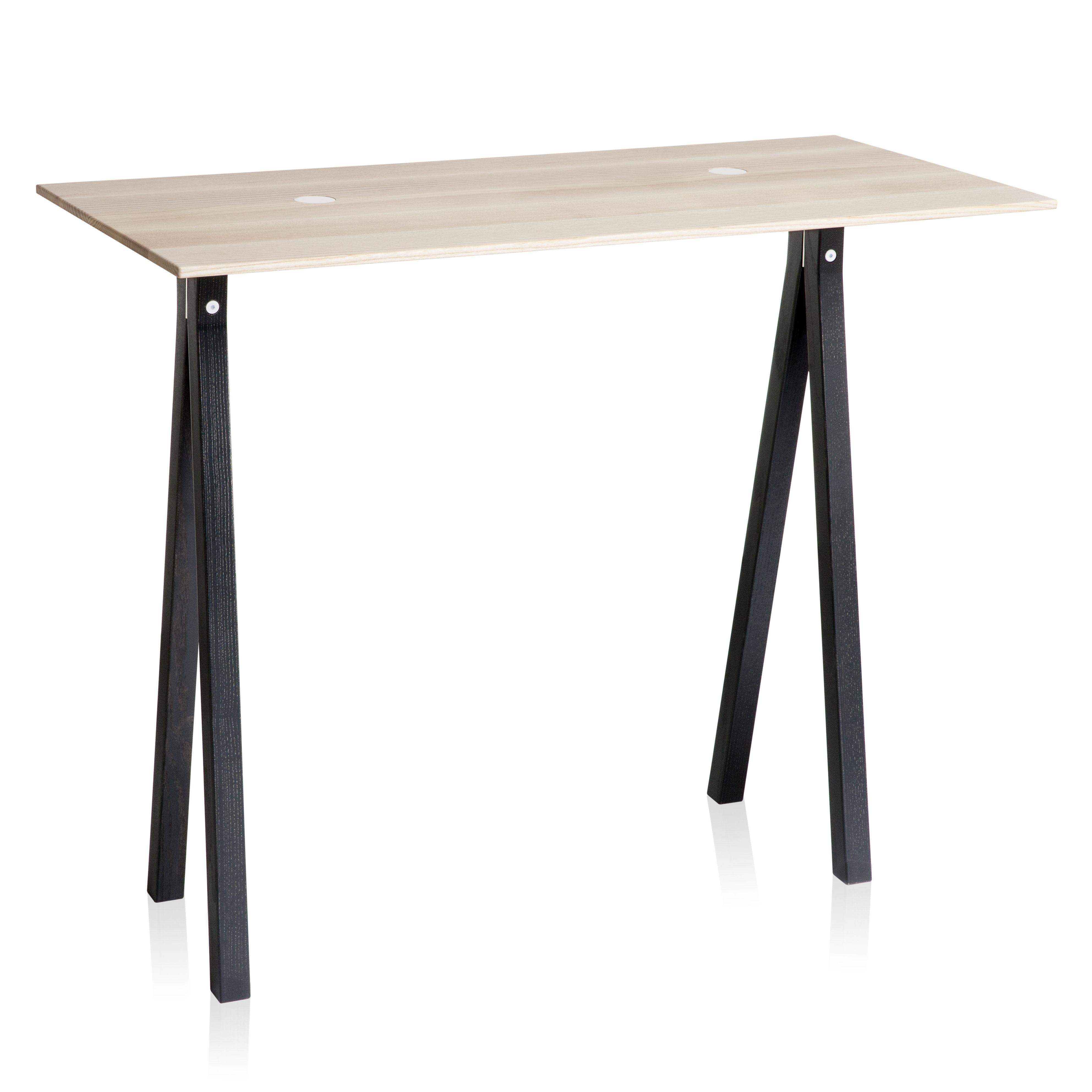 console 2 dots l 90 cm bois pastilles blanches pieds. Black Bedroom Furniture Sets. Home Design Ideas