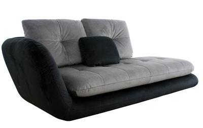 M ridienne double je convertible accoudoir gauche l 230 cm noir gris - Canape double meridienne ...