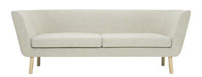 Foto Divano angolare destro Nest / L 204 cm - Design House Stockholm - Rovere,Beige sable - Tessuto Divano destro