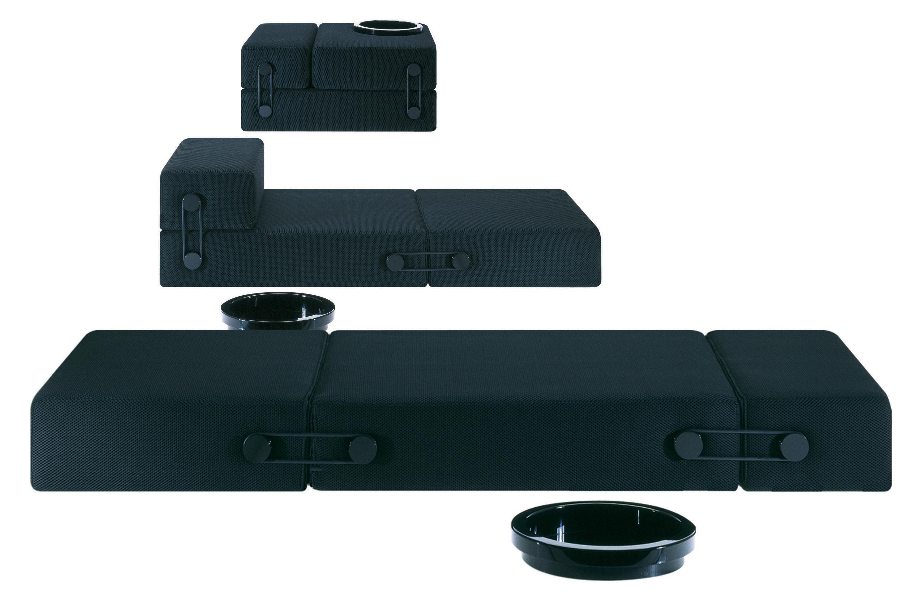 chauffeuse convertible trix lit d 39 appoint noir kartell. Black Bedroom Furniture Sets. Home Design Ideas