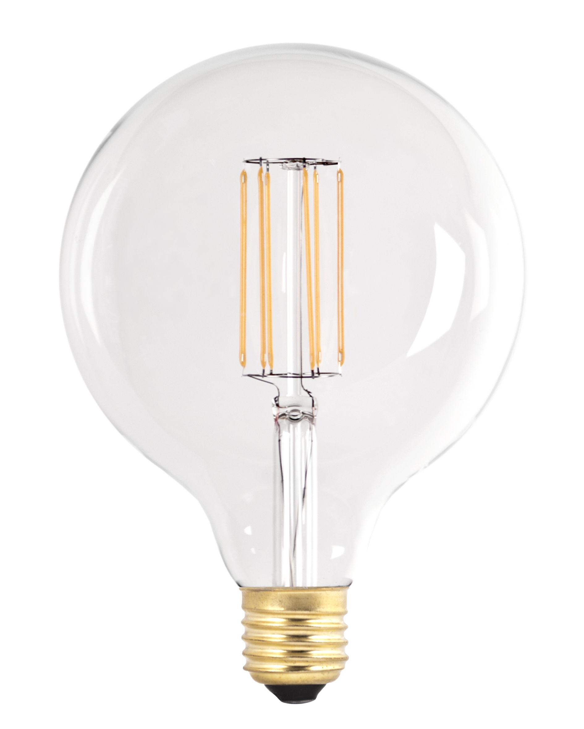 ampoule led g125 a filament 6w transparent or pop corn. Black Bedroom Furniture Sets. Home Design Ideas