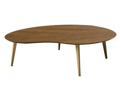 table basse lalinde xxl haricot l 130cm pieds bois teck pieds ch ne sentou edition. Black Bedroom Furniture Sets. Home Design Ideas