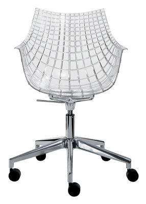 Meridiana Desk chair by Driade Transparent