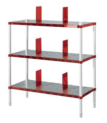 biblioth que partner 3 tag res rouge rubis kartell. Black Bedroom Furniture Sets. Home Design Ideas