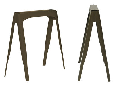 Foto Coppia di cavaletti Y - acciaio laccato di Tolix - Bronzo opaco - Metallo