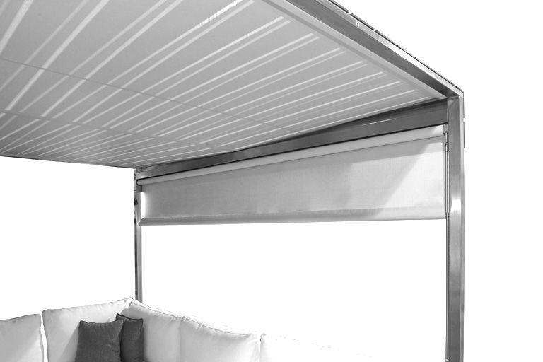 rideau pour pergola rideau blanc coro. Black Bedroom Furniture Sets. Home Design Ideas