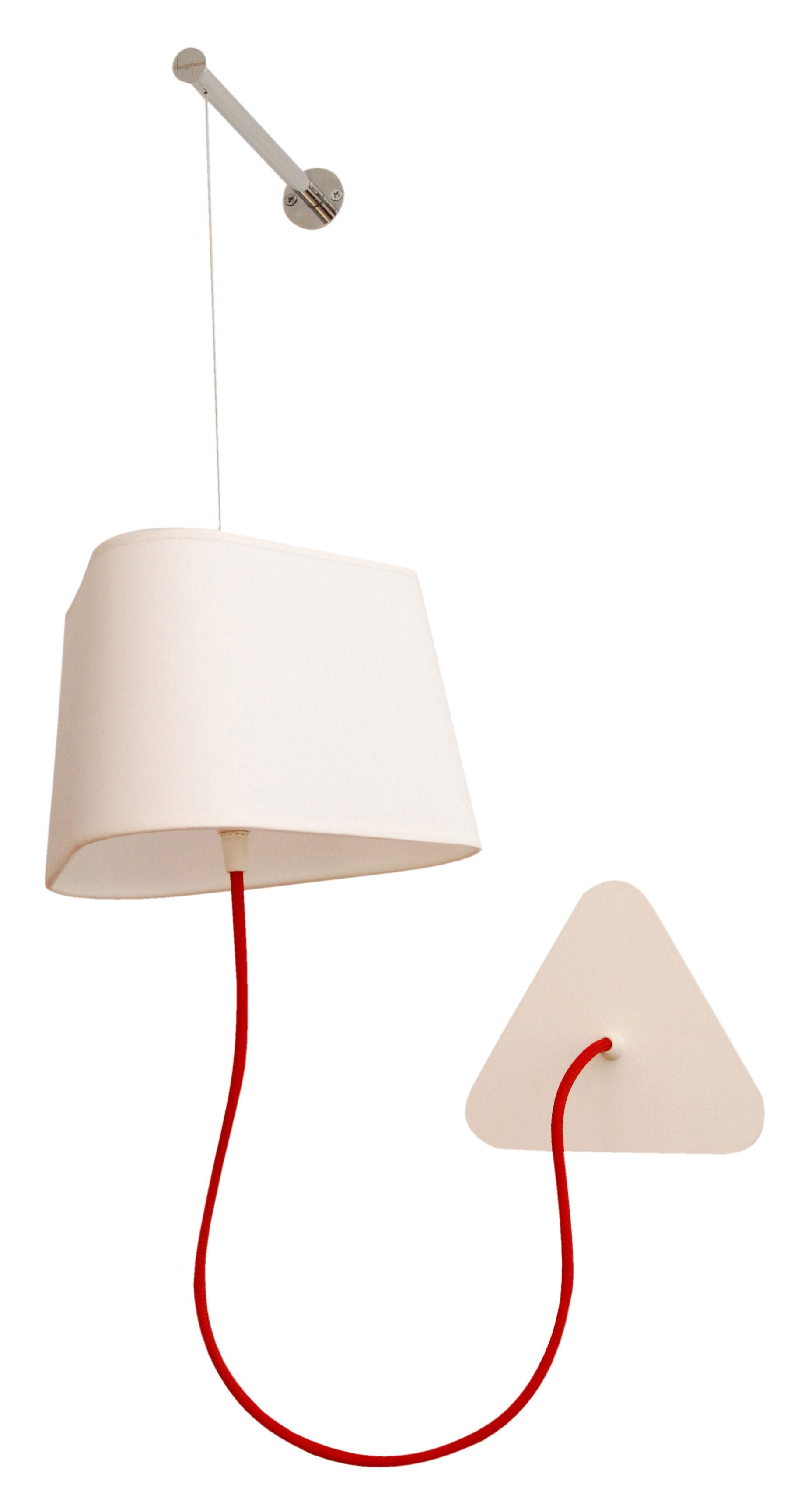 applique petit nuage l 24 cm fixation murale tissu blanc uni designheure. Black Bedroom Furniture Sets. Home Design Ideas