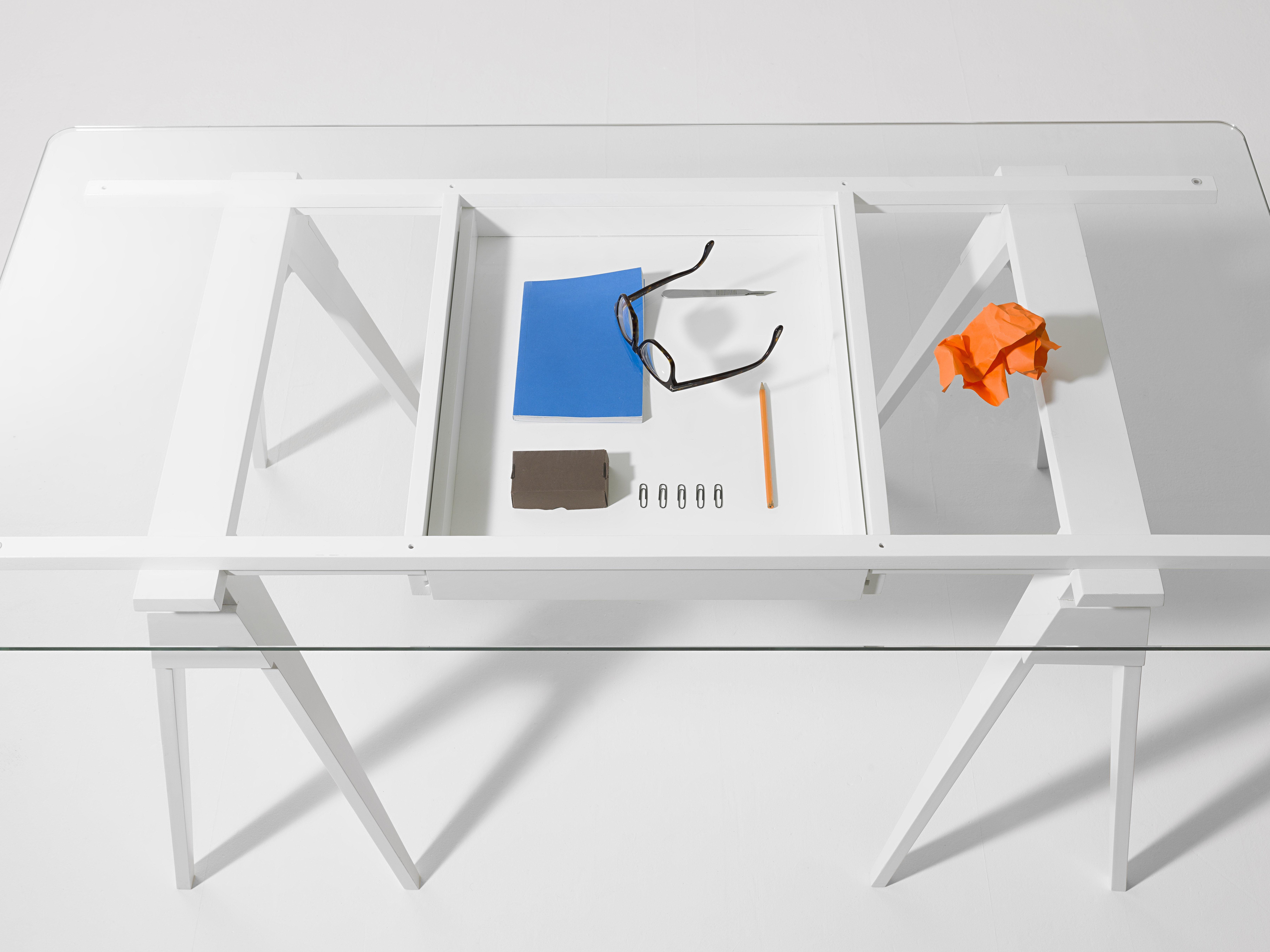 Plateau verre pour bureau arco 150 x 75 cm plateau verre transparent - Plateau verre pour bureau ...