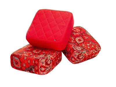Pouf Baboesjka Set 3 Coussins De Sol Rouge Rouge