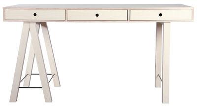 Bureau mix l 150 cm 3 tiroirs bouleau brut bouleau for Mobilier bureau ecologique