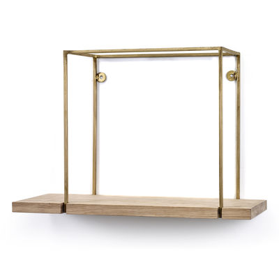 Foto Mensola Hang Rack Small / 45 x 17 x H 30 cm - Serax - Rame,Legno naturale - Metallo Scaffale
