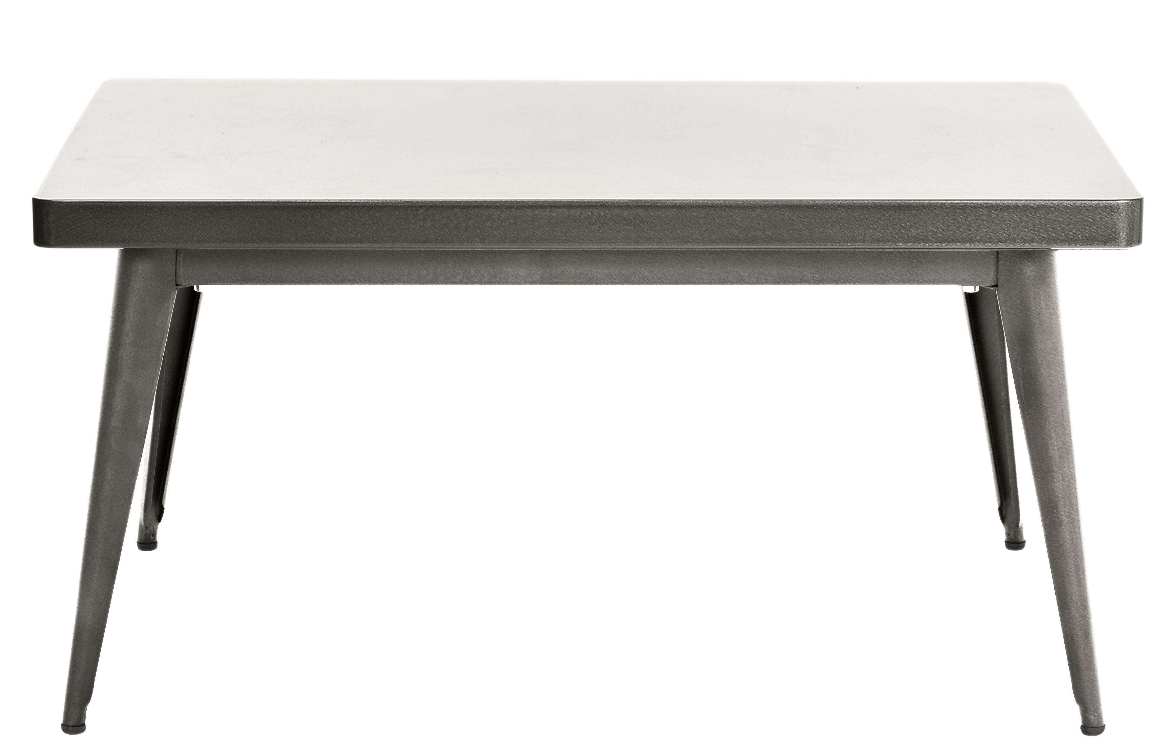 table basse 55 90 x 55 cm acier brut verni brillant tolix. Black Bedroom Furniture Sets. Home Design Ideas