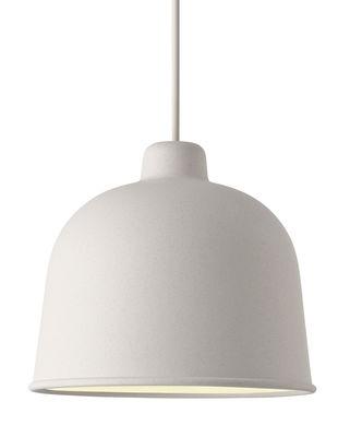 Foto Sospensione Grain / Ø 21 cm - Muuto - Bianco - Materiale plastico
