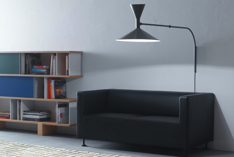 applique lampe de marseille mini by le corbusier l 85 cm r dition 1954 gris mat int rieur. Black Bedroom Furniture Sets. Home Design Ideas