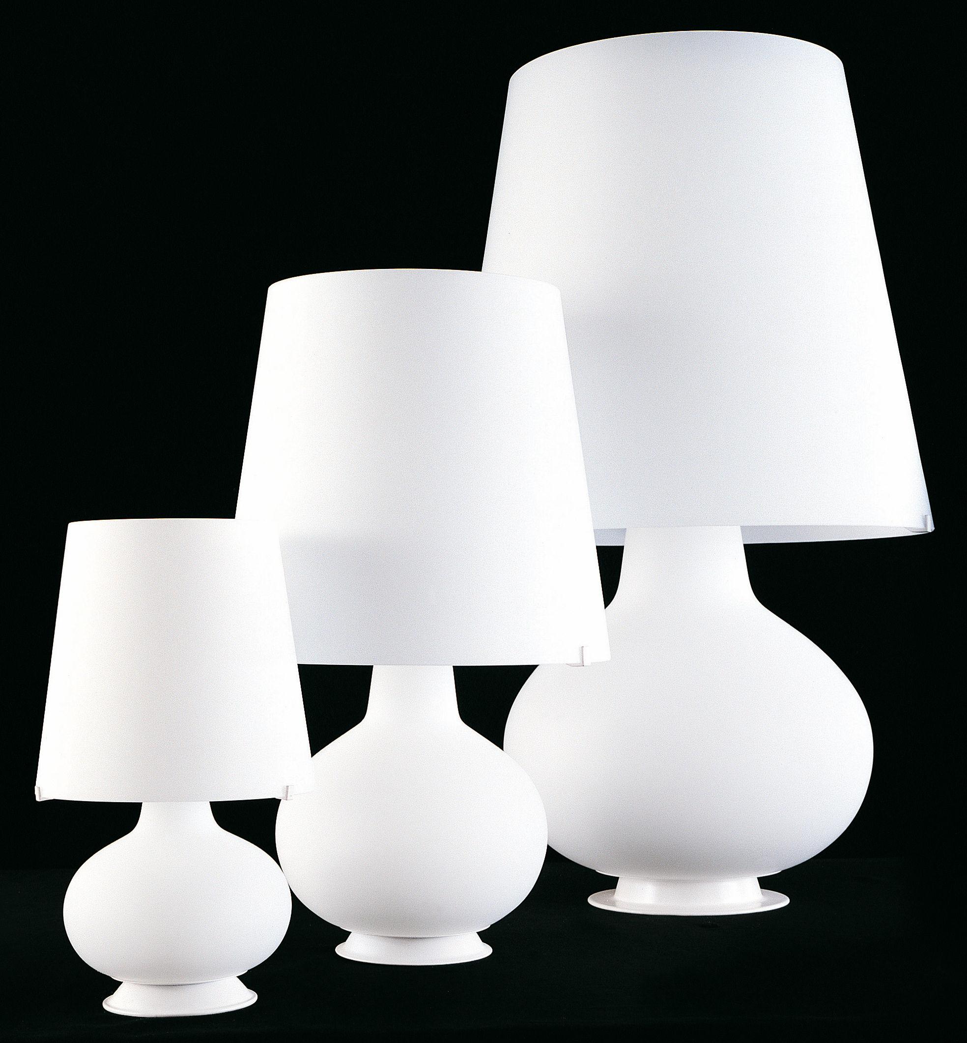 lampe de table fontana h 53 cm blanc fontana arte. Black Bedroom Furniture Sets. Home Design Ideas