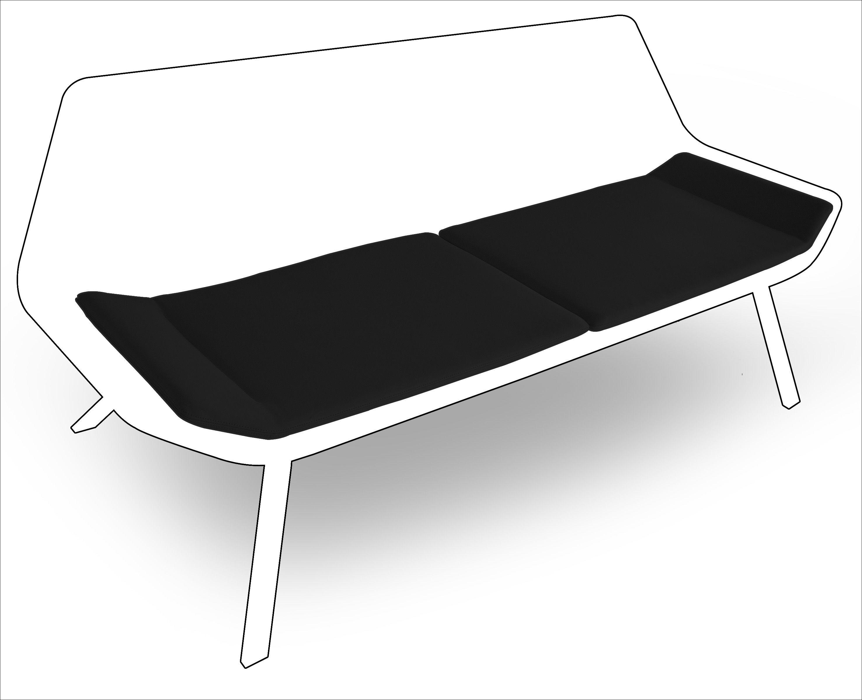 coussin d 39 assise pour canap otium lot de 2 noir lapalma. Black Bedroom Furniture Sets. Home Design Ideas