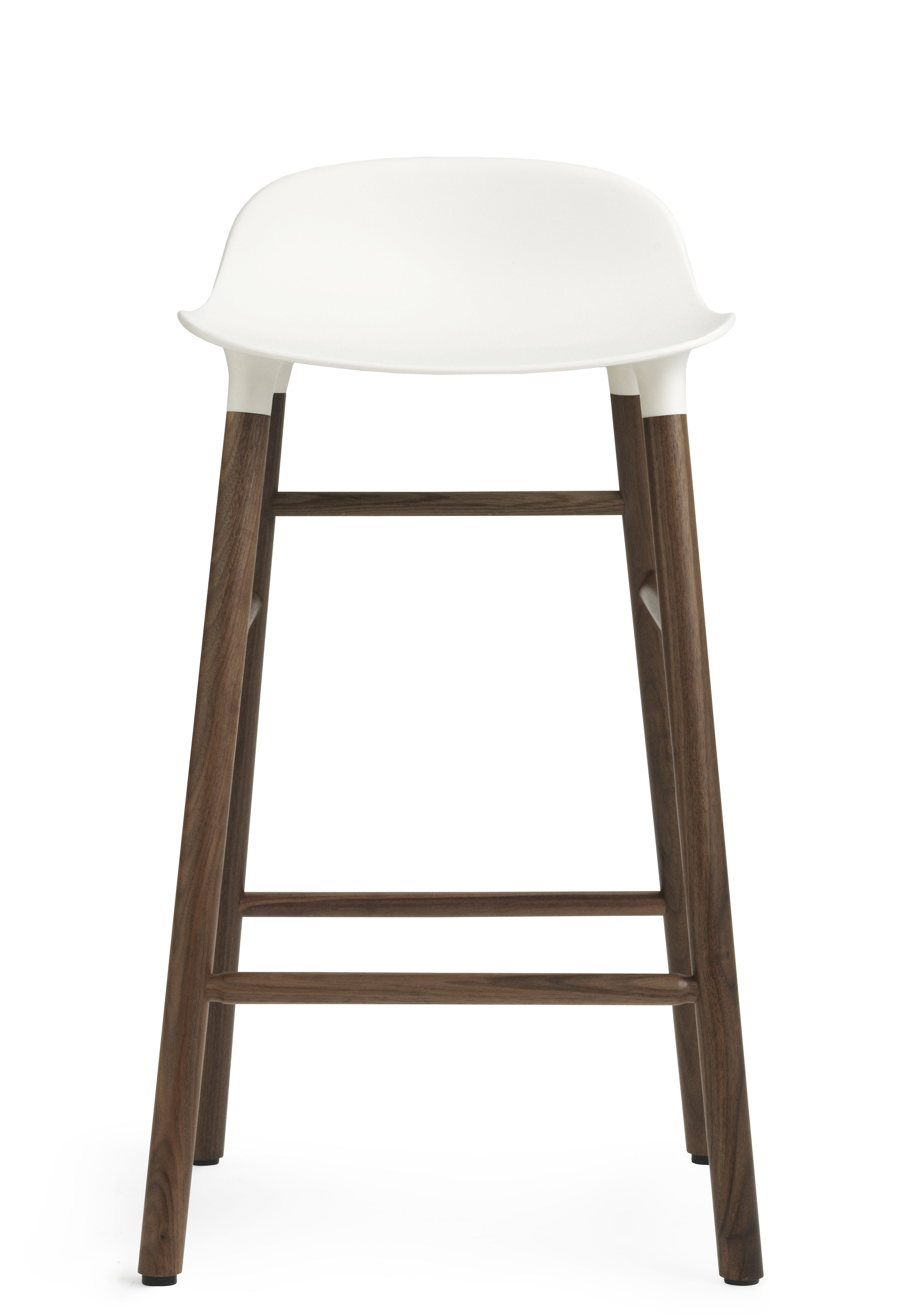 tabouret de bar form h 65 cm pied noyer blanc noyer. Black Bedroom Furniture Sets. Home Design Ideas