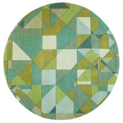 Foto Tappeto Tavern / Ø 230 cm - Toulemonde Bochart - Verde scuro,Verde chiaro - Tessuto
