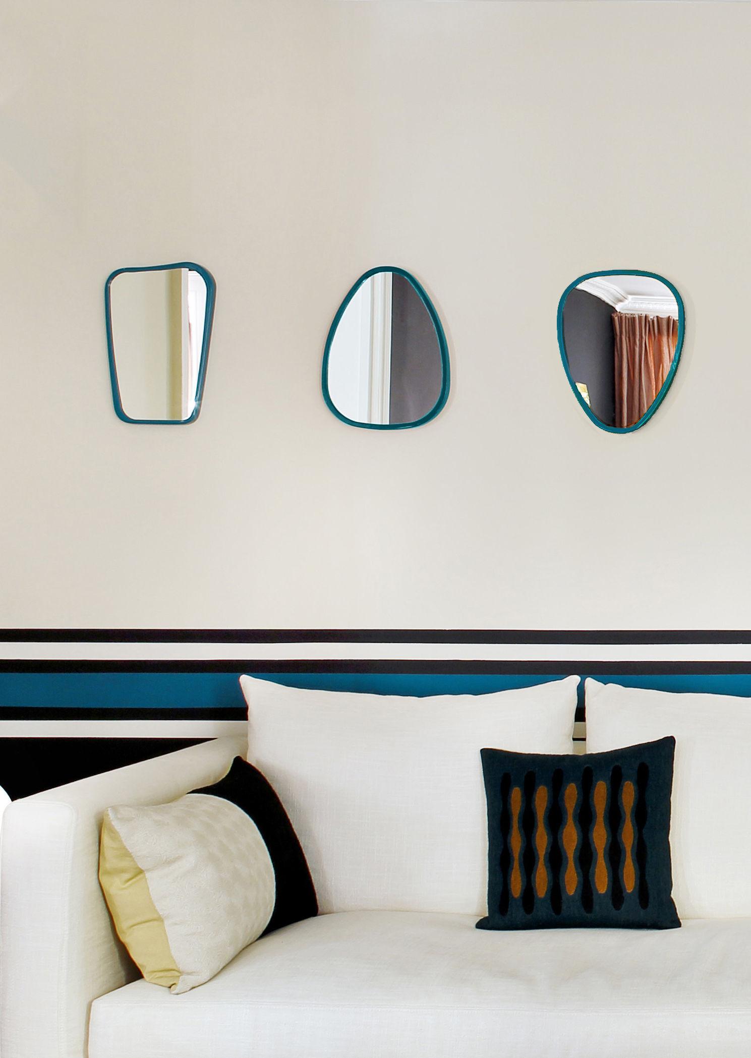 miroir mini me organique 35 x 23 4 cm bleu vintage maison sarah lavoine. Black Bedroom Furniture Sets. Home Design Ideas