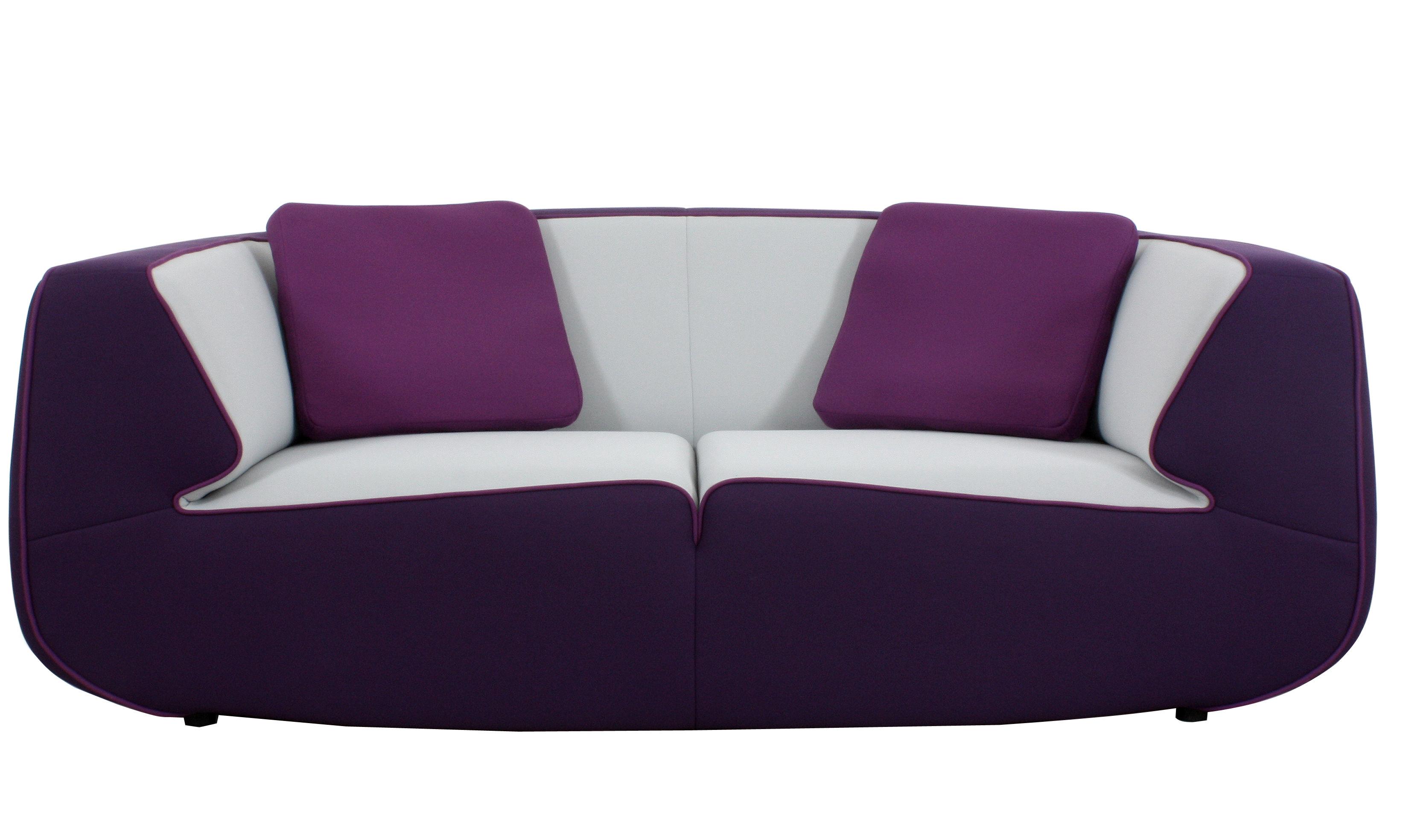 Canap droit bump by ora ito 2 3 places l 198 cm violet gris perle - Canape dunlopillo ora ito ...
