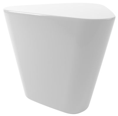 Table d 39 appoint tribe table plastique blanc xl boom - Table d appoint blanc laque ...