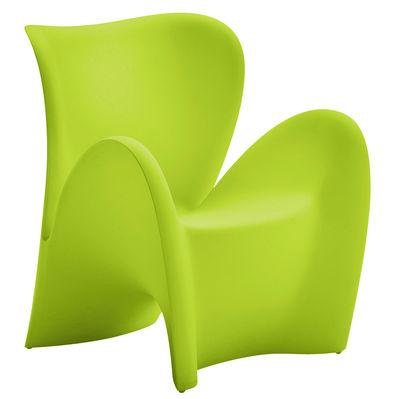 Poltrona Lily di MyYour - Verde opaco - Materiale plastico