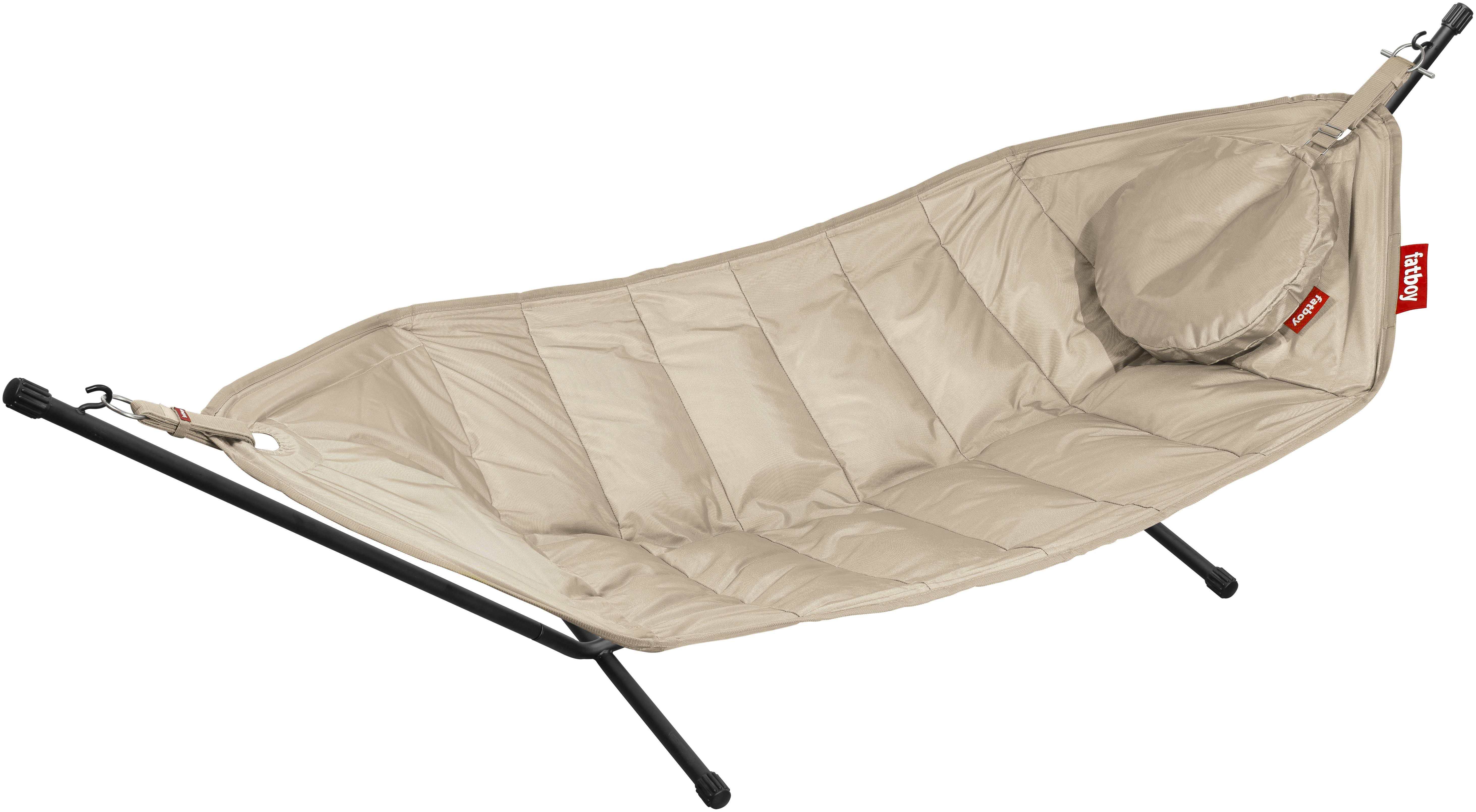 hamac headdemock avec coussin sable fatboy. Black Bedroom Furniture Sets. Home Design Ideas