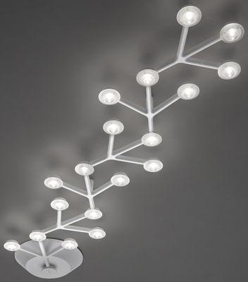 Foto Plafoniera LED NET - lineare- L 125 cm di Artemide - Bianco - Metallo