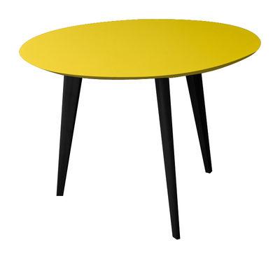 table basse lalinde large 55cm pieds noirs jaune pieds noirs sentou edition. Black Bedroom Furniture Sets. Home Design Ideas