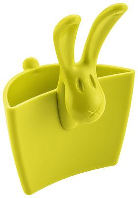 Image du produit Porte-sachet de thé Hazel / Mini pochette à suspendre - Koziol Vert moutarde opaque en Matière plastique