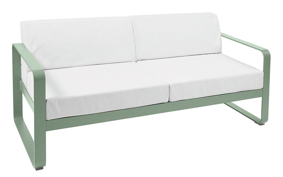 canap droit bellevie 2 places l 160 cm tissu blanc cactus fermob. Black Bedroom Furniture Sets. Home Design Ideas