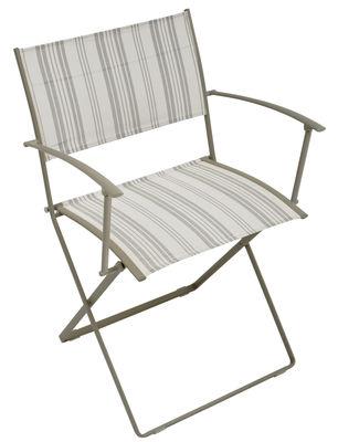 fauteuil pliant plein air pliant toile matelas fermob. Black Bedroom Furniture Sets. Home Design Ideas