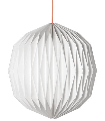 scopri sospensione paper sphere large 43 x h 40 cm bianco cavo nero di made in design. Black Bedroom Furniture Sets. Home Design Ideas