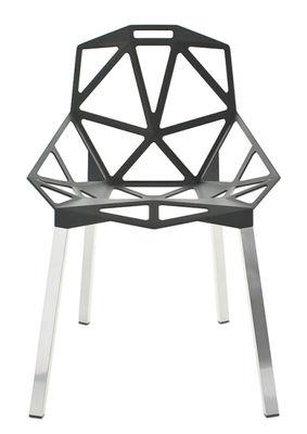 Foto Sedia impilabile Chair one di Magis - Alluminio,Antracite metallizzato - Metallo