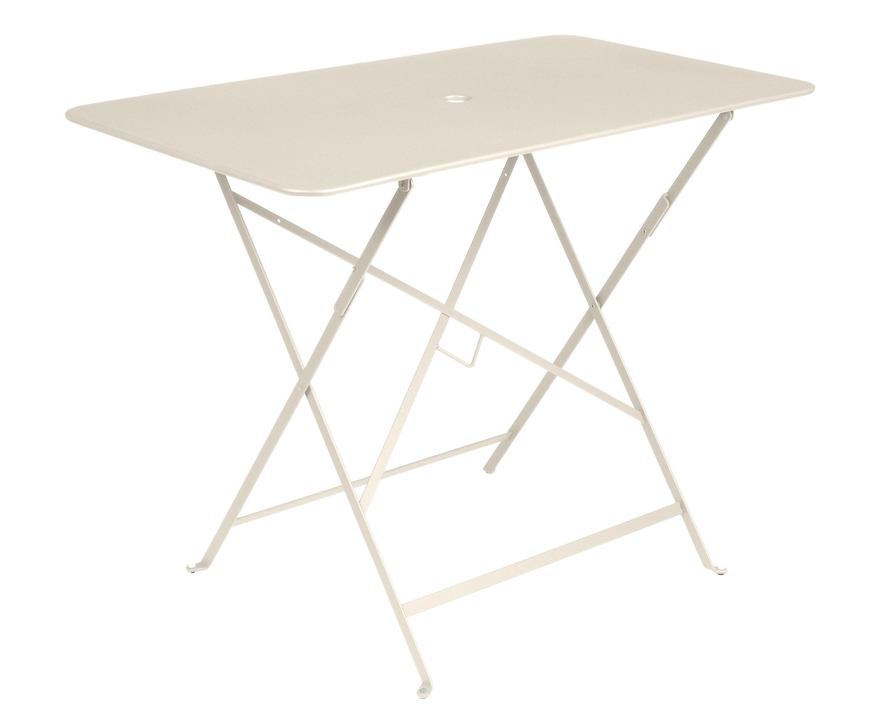 table pliante bistro 97 x 57 cm 4 personnes trou parasol lin fermob. Black Bedroom Furniture Sets. Home Design Ideas