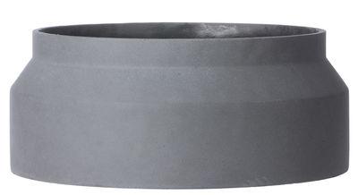 Foto Vaso per fiori Contenant Large - / Cemento - Ø45 x H 19 cm di Ferm Living - Grigio scuro - Pietra