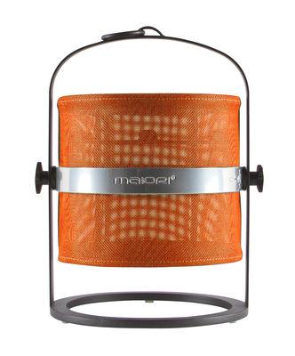 Foto Lamapada solare La Lampe Petite LED - / Senza filo - Struttura nera di Maiori - Arancione,Nero - Metallo