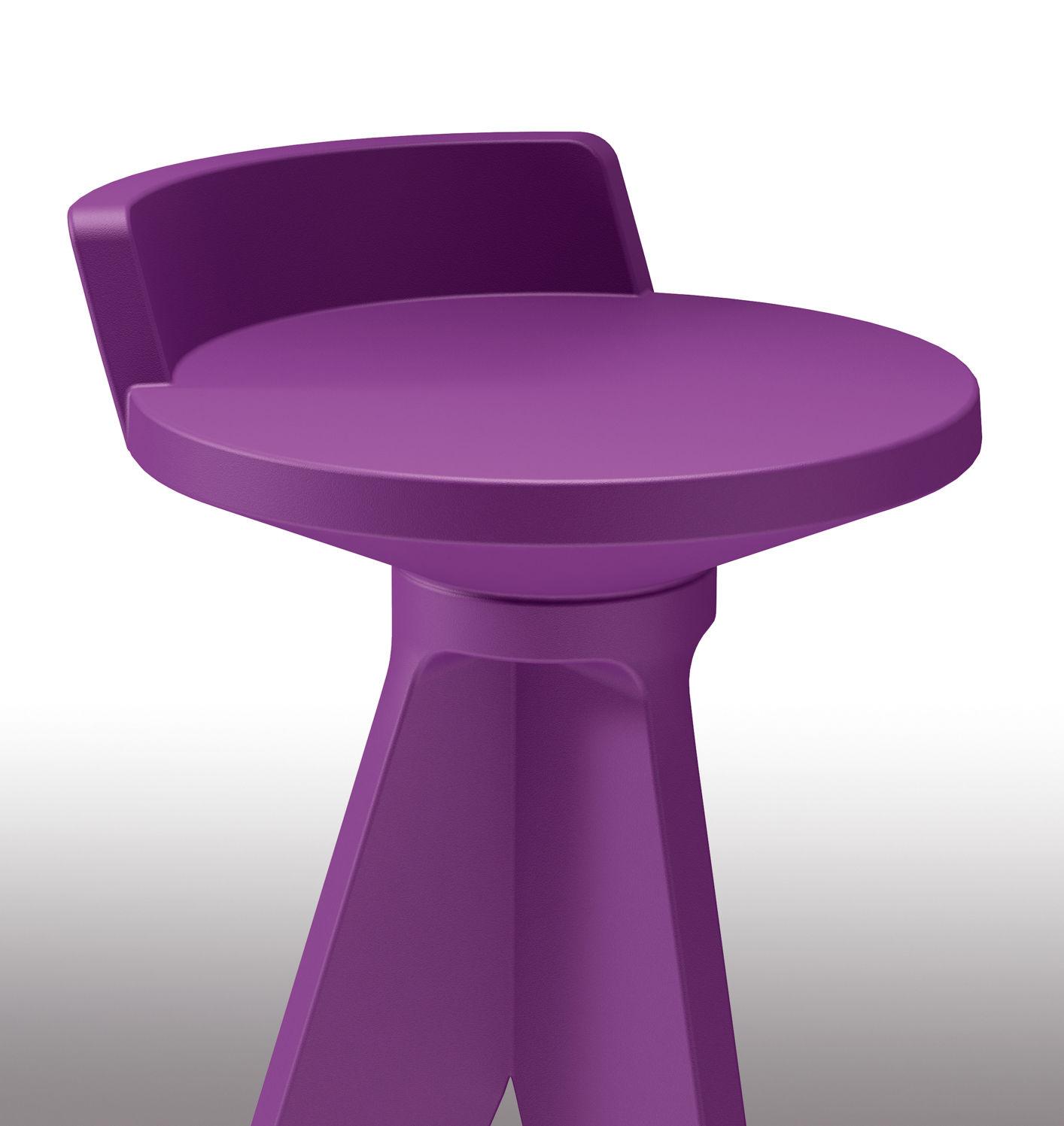 Tabouret de bar oxford h 75 cm plastique violet myyour - Tabouret de bar en plastique ...