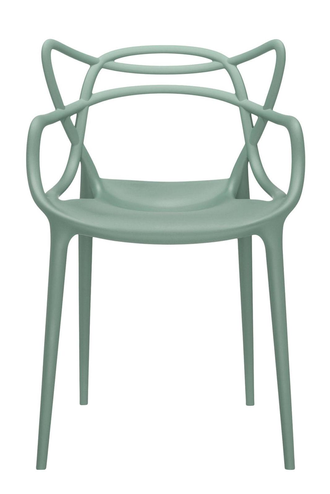 fauteuil empilable masters plastique vert sauge kartell. Black Bedroom Furniture Sets. Home Design Ideas