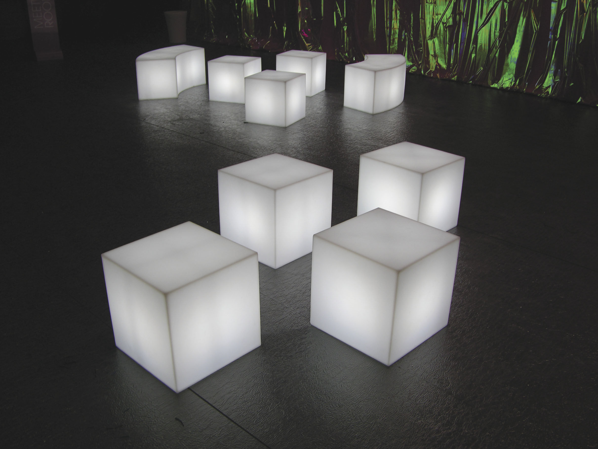 cubo outdoor led tischleuchte kabellos 25 x 25 x 25 cm f r den au eneinsat ebay. Black Bedroom Furniture Sets. Home Design Ideas
