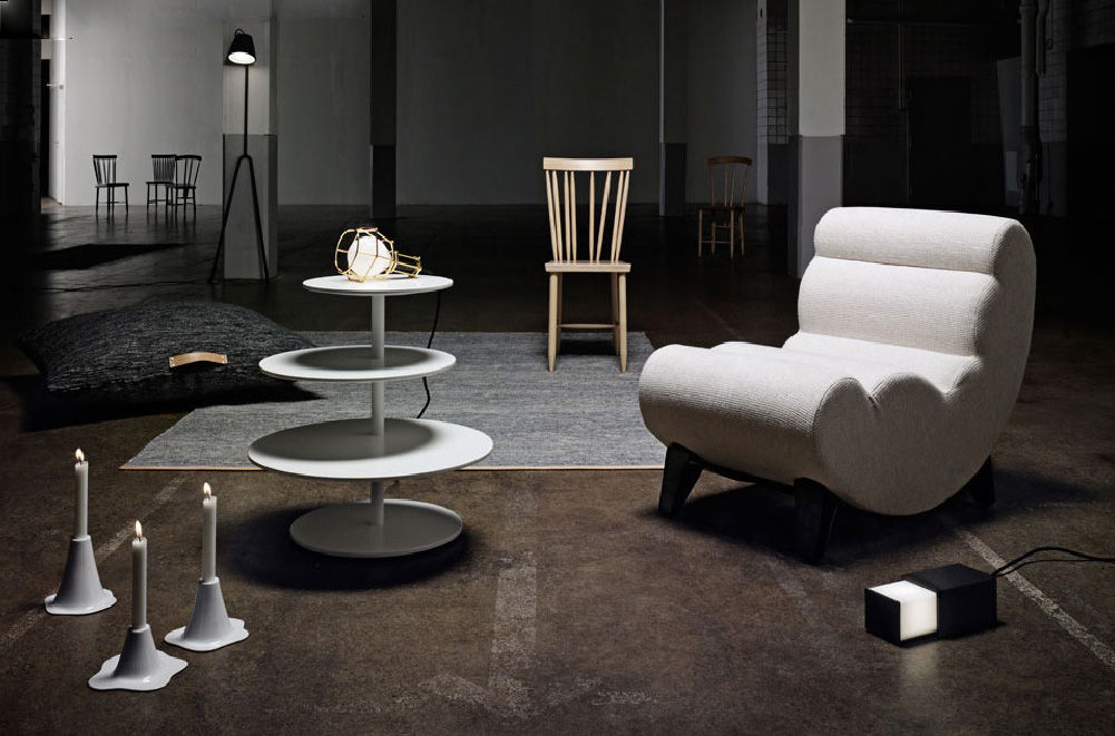 Manana Lamp Floor Lamp Grey By Design House Stockholm