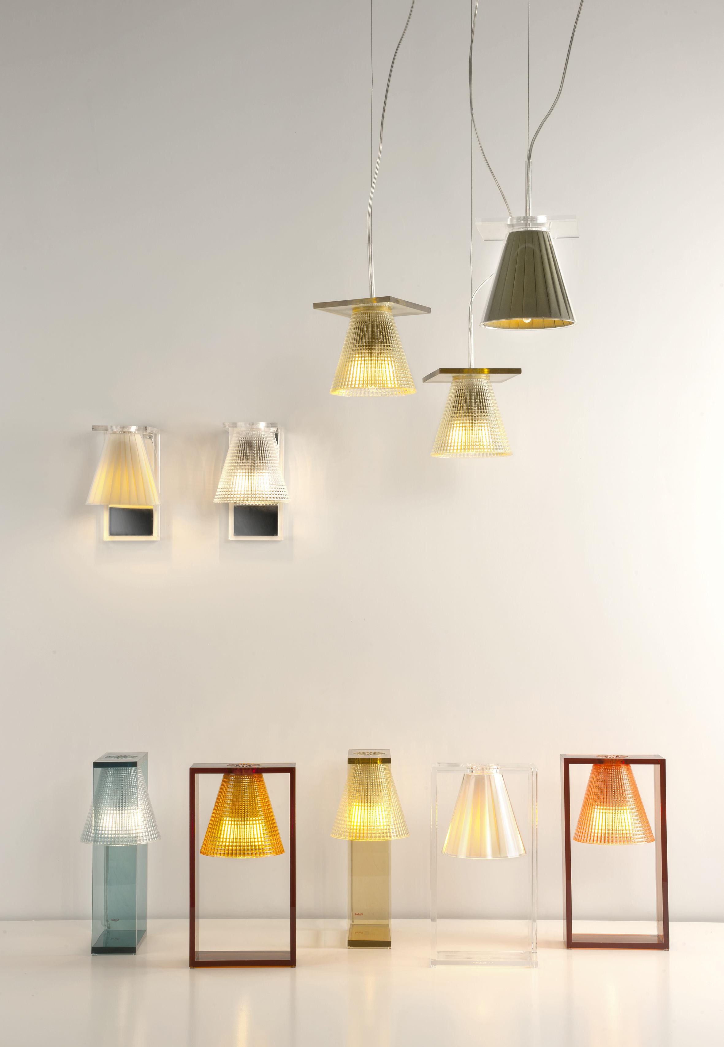 applique light air abat jour plastique sculpt cristal miroir kartell. Black Bedroom Furniture Sets. Home Design Ideas