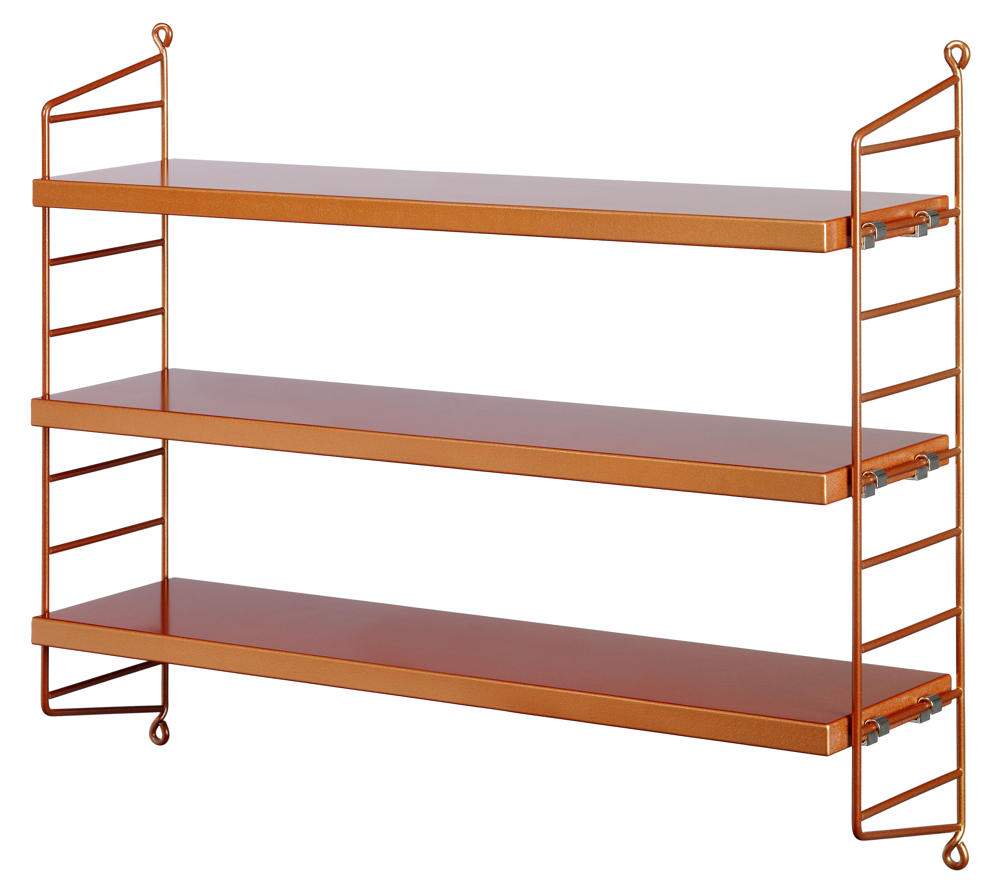 string pocket shelf copper by string furniture. Black Bedroom Furniture Sets. Home Design Ideas