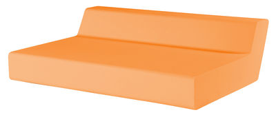 Divano destro Matrass Seat 150 - h 20 cm - 2 posti di Quinze & Milan - Arancione - Materiale plastico