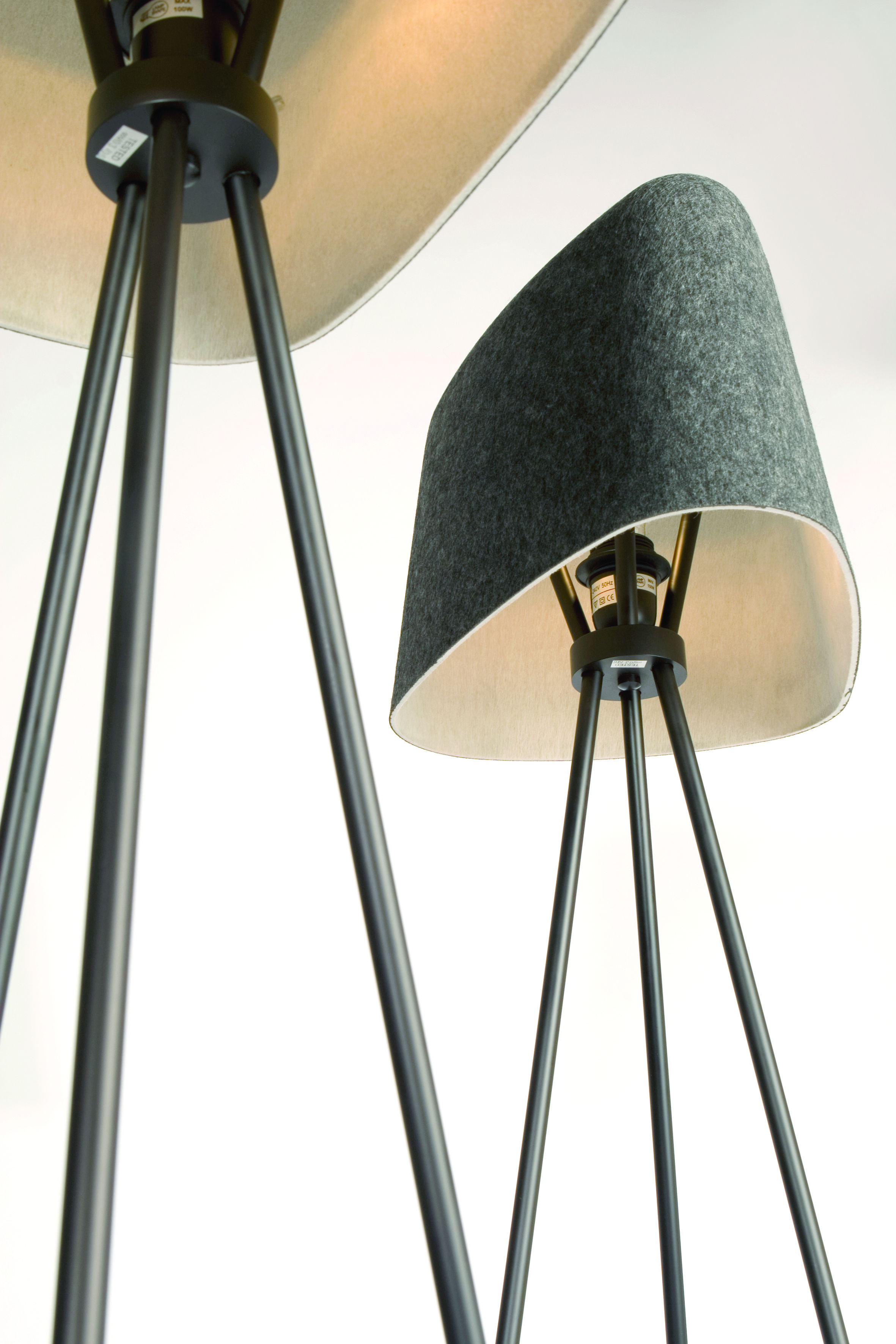 felt shade floor lamp grey by tom dixon. Black Bedroom Furniture Sets. Home Design Ideas