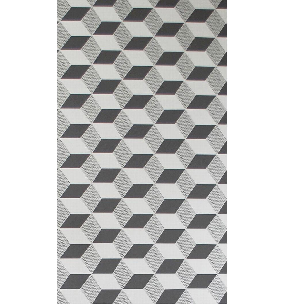Papier Peint Squares 1 Rouleau Larg 53 Cm Noir
