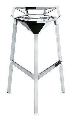 Foto Sgabello bar Stool One - h 77 cm - Versione alluminio lucido di Magis - Alluminio lucido - Metallo