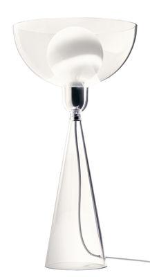 Lampe de table Lady Shy / H 38 cm - Alessi Transparent en Matière plastique