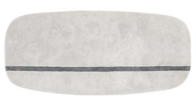 Foto Tappeto Oona - - 90 x 200 cm di Normann Copenhagen - Grigio - Tessuto